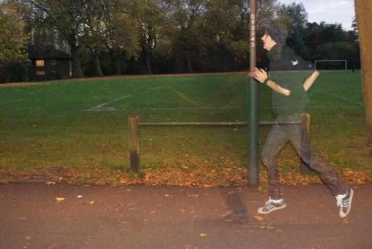 runner blur park flash