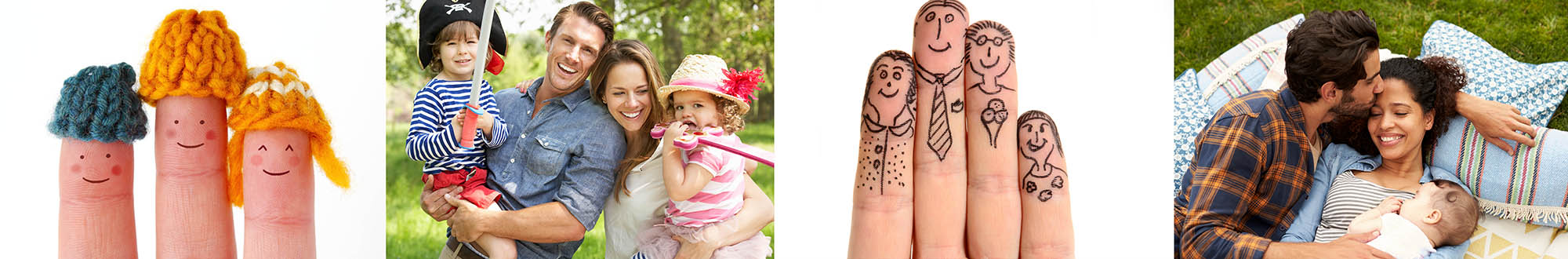 finger puppets faces on hands family overhead fun portrait iphotography