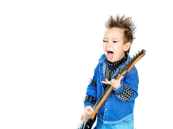 child rock star