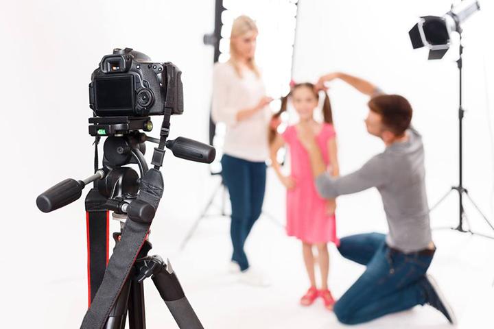 setting up child shoot