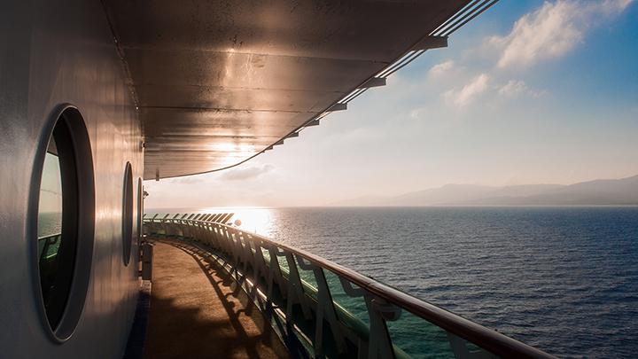 water sea landscape ferry boat rail sky cruise ship