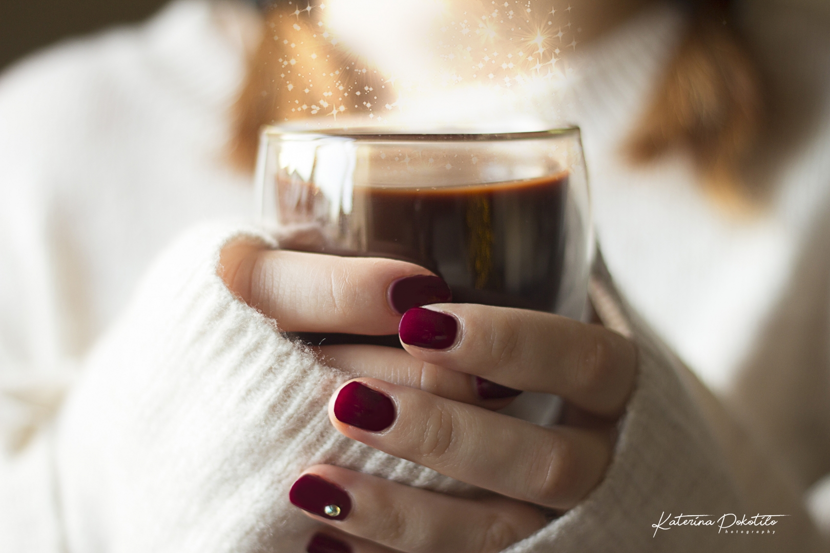 Ekaterina Pokotilo Warm hot chocolate with sparkles