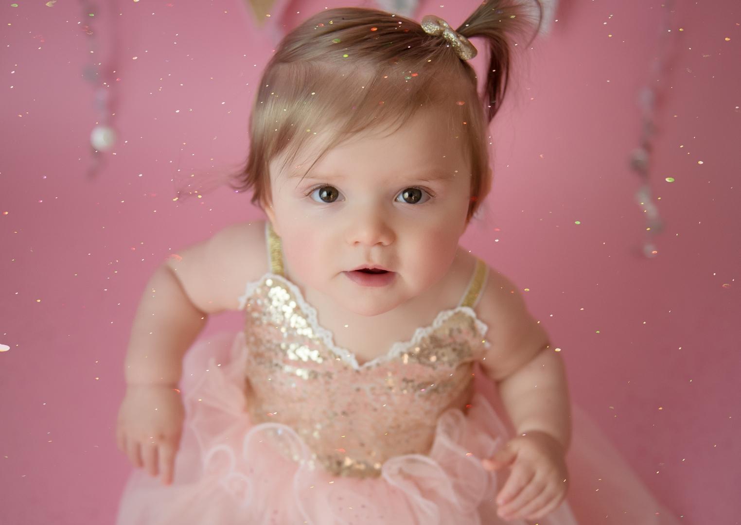 portrait girl female toddler dress sparkle princess fairy pink cute