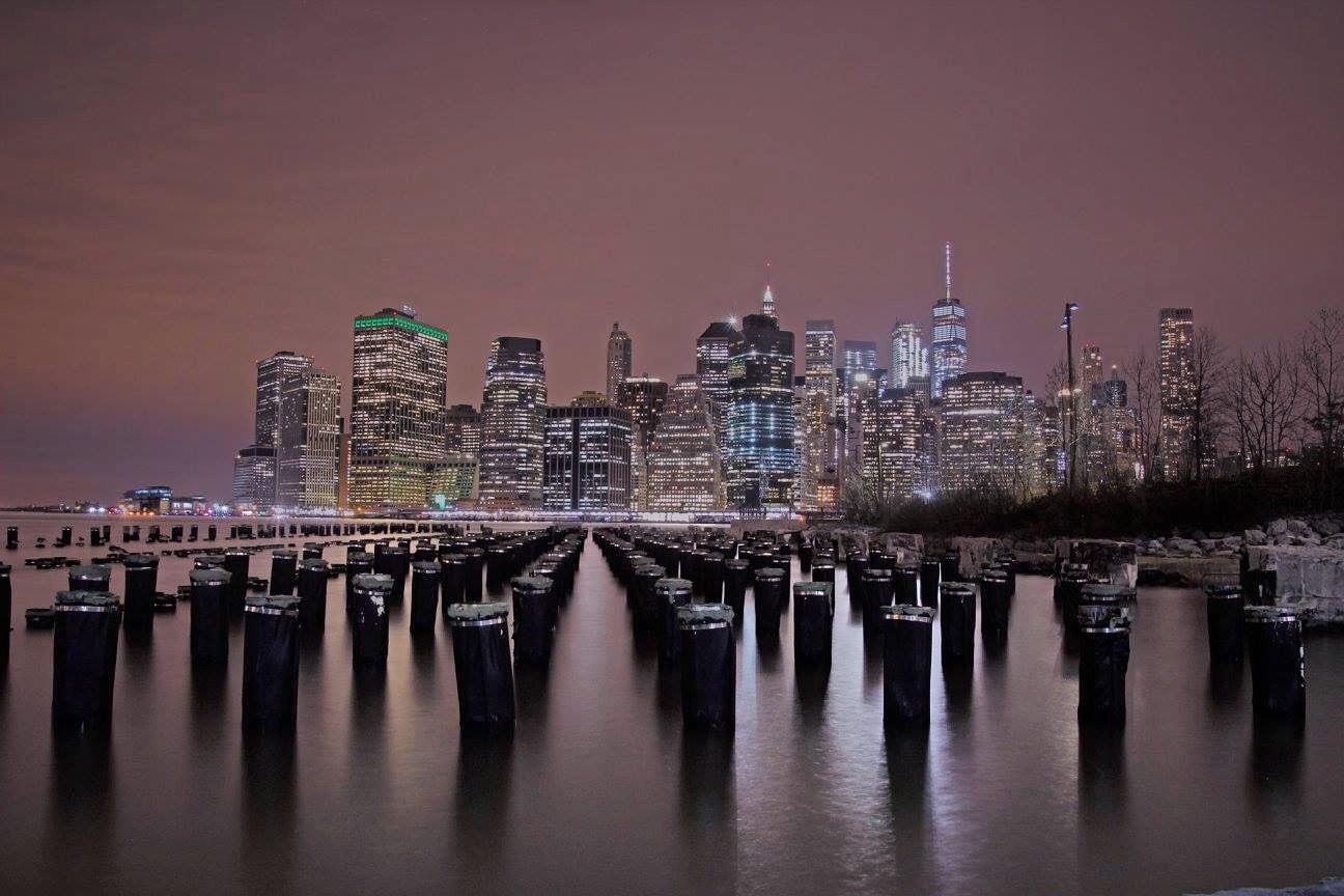 city night new york america usa lights busy metropolis