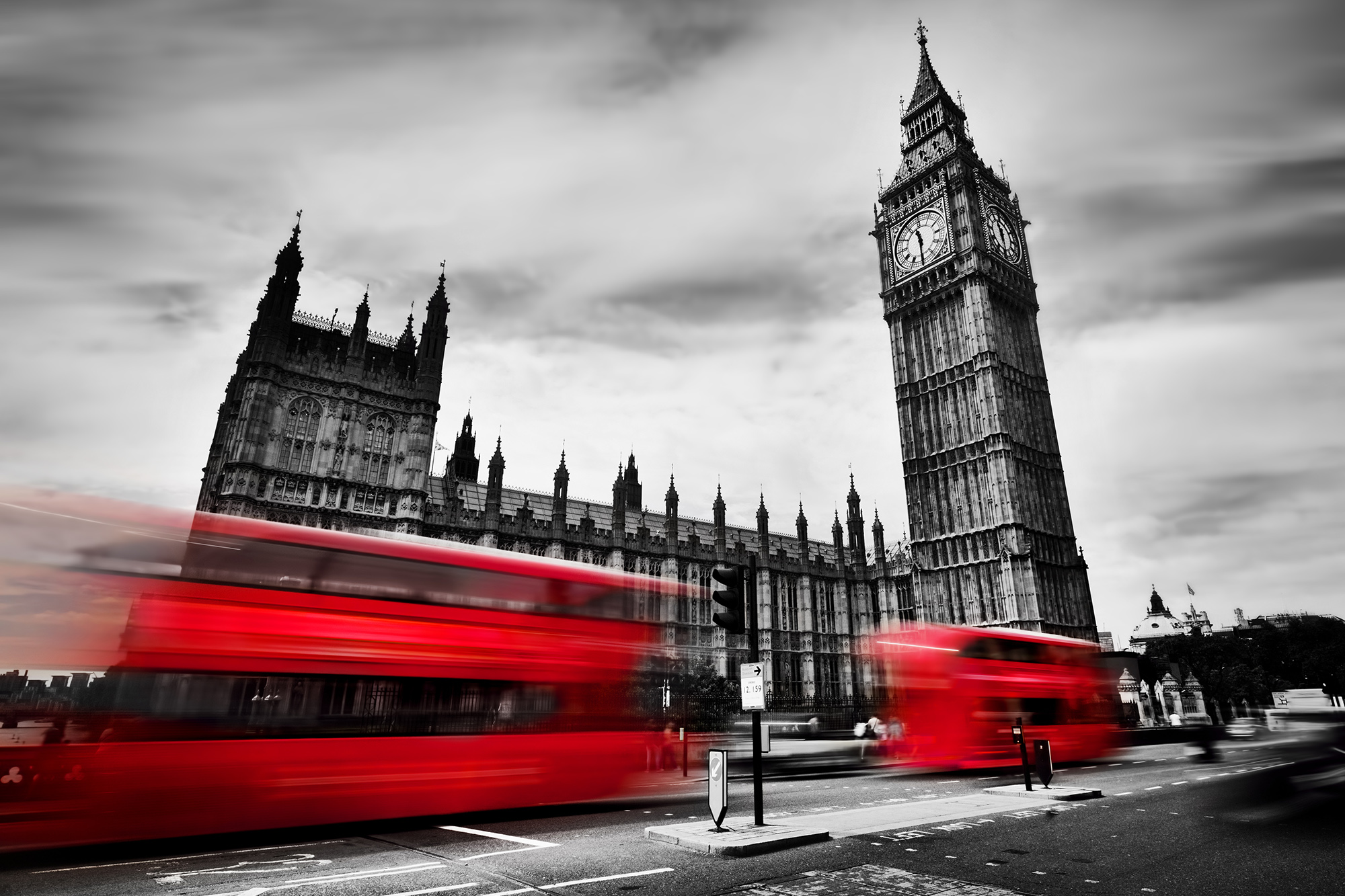 london bus red parliament colour splash bridge city
