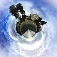 Create your own little world using photoshop