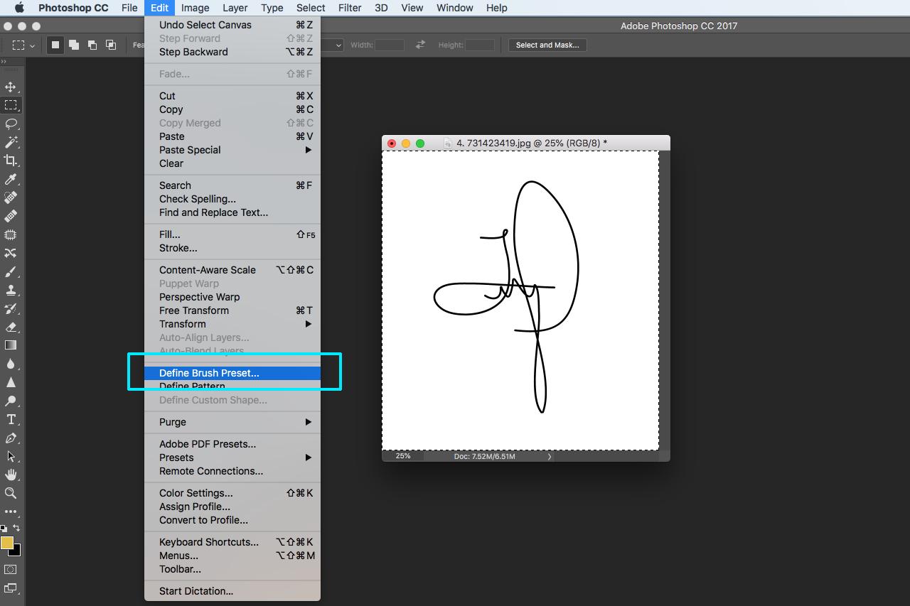 watermark signature logo photoshop