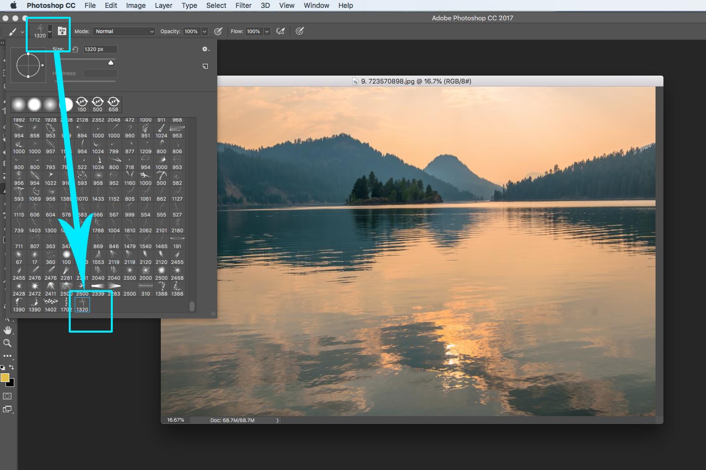 photoshop landscape photography editing