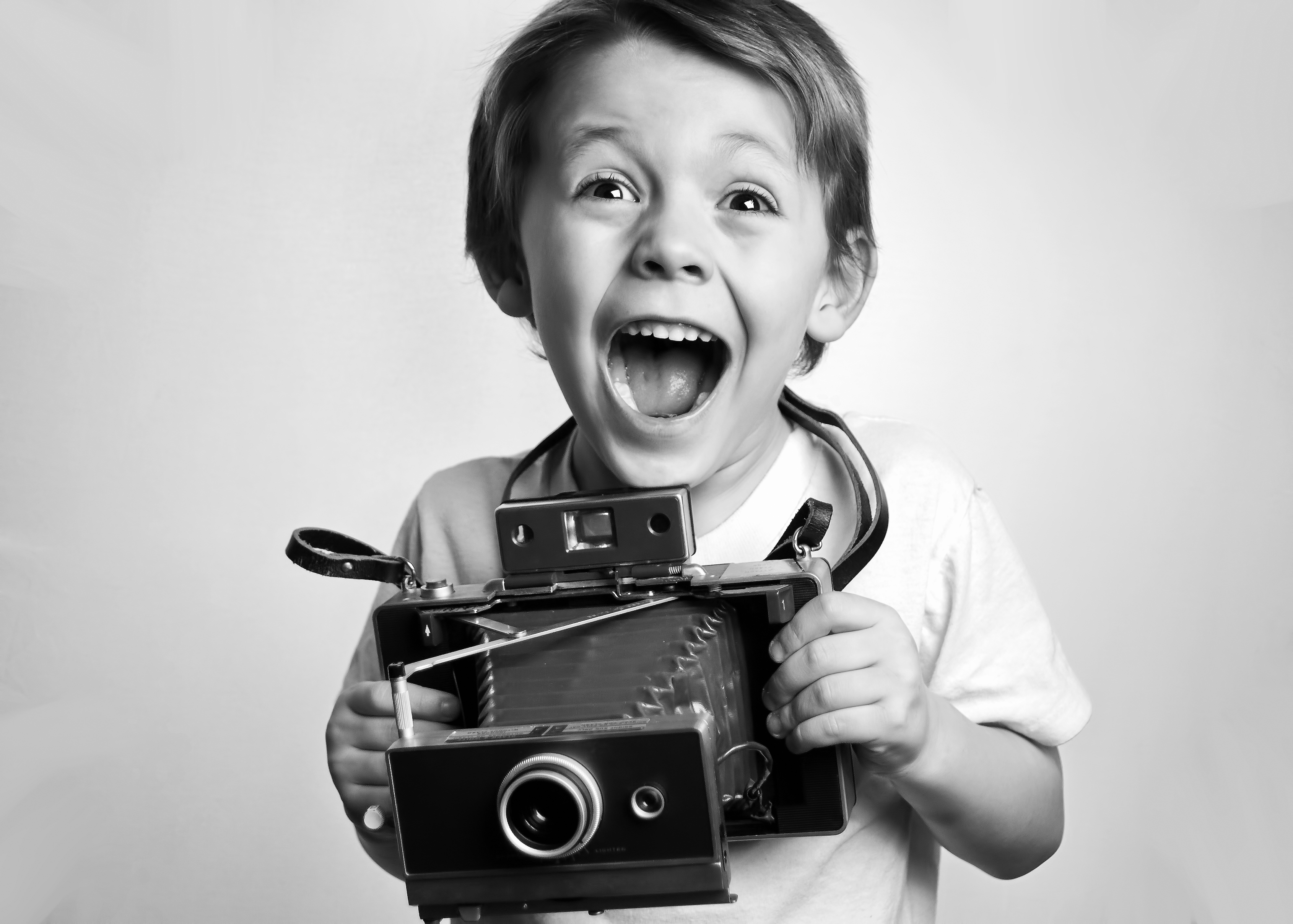 boy camera laughing photography black and white vintage world photo day