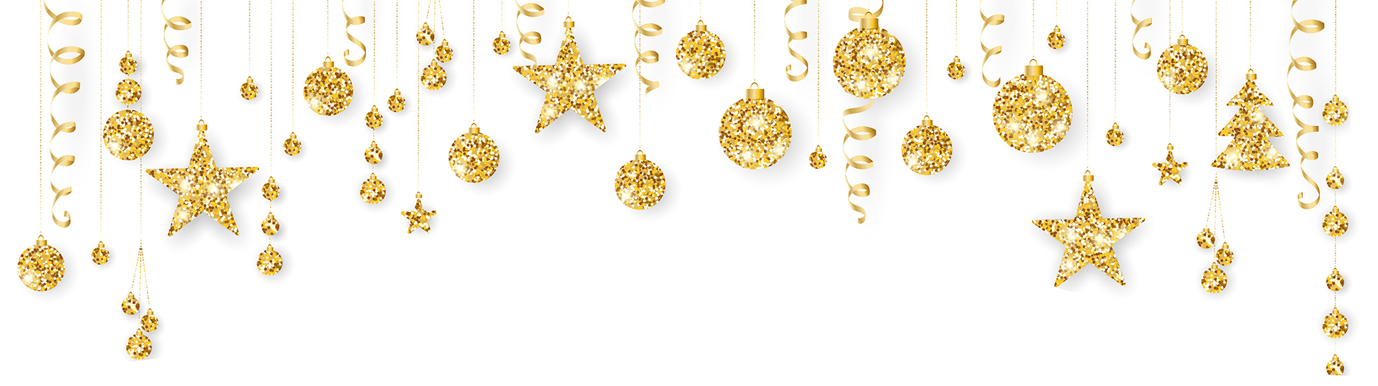 baubles golden shiny shimmer decorations christmas