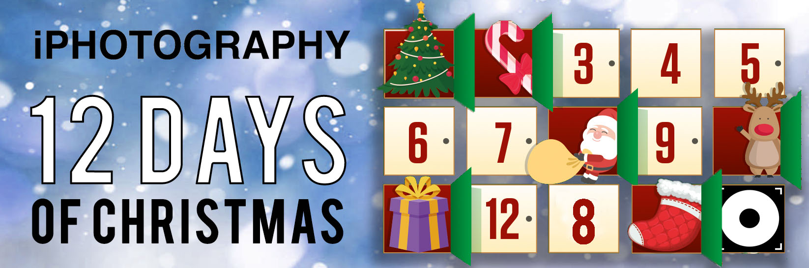 banner iphotography blue ribbon 12 days of christmas