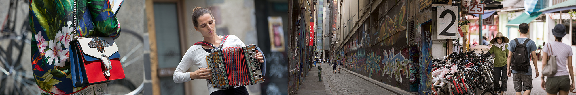 street photography portrait city people camera subject light how to tutorial guide scene accordion bag couple walking town village