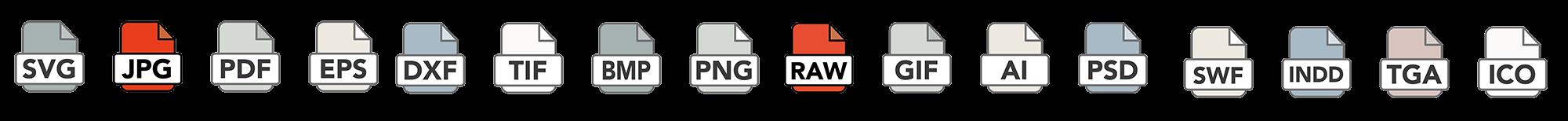 jpeg JPEG RAW raw file types icon