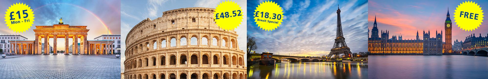 Brexit Photography european landmarks brandenburg gate eiffel tower big ben colosseum rome