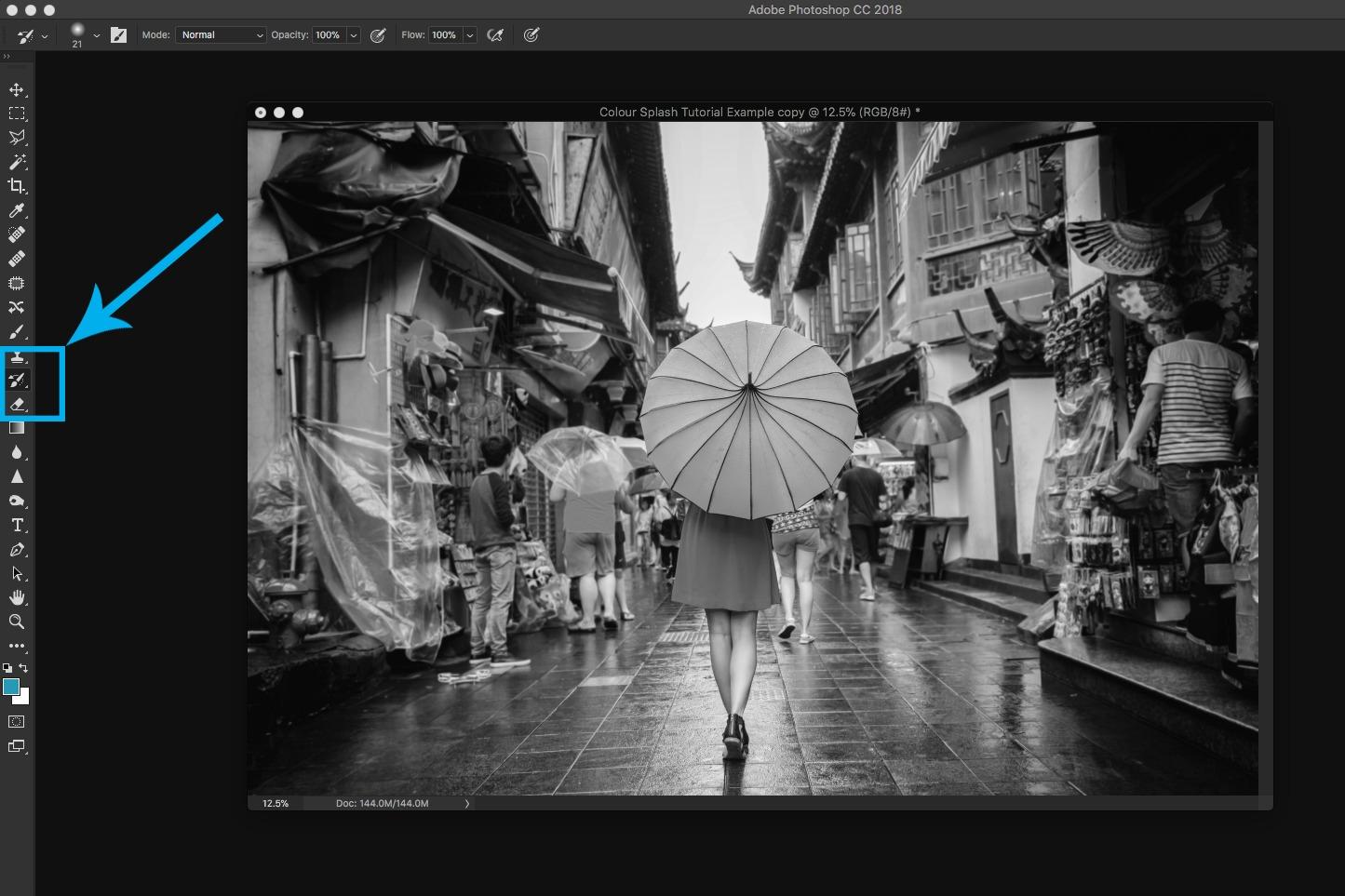 editing photoshop screenshot history brush