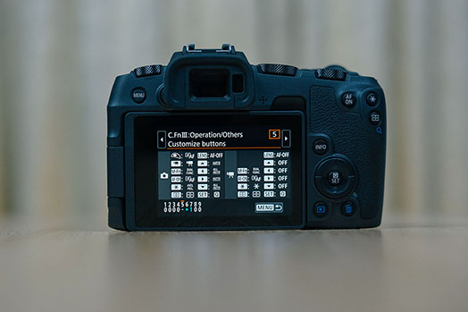 menu DSLR back of camera creative filters