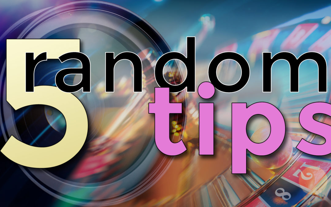5 Random Photography Tips