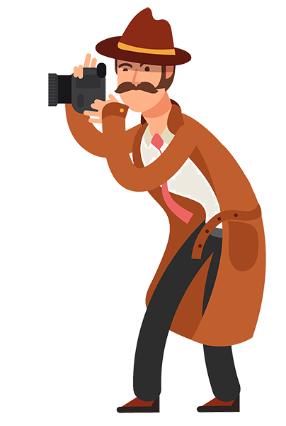 detective with camera
